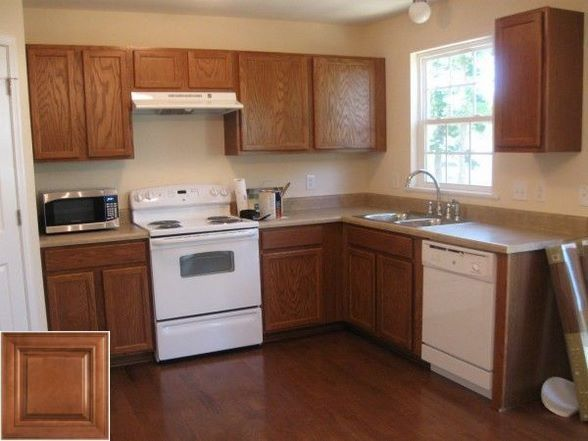 The advantages of - staining over honey oak cabinets. #honeyoakcabinets The advantages of - staining over honey oak cabinets. #honeyoakcabinets