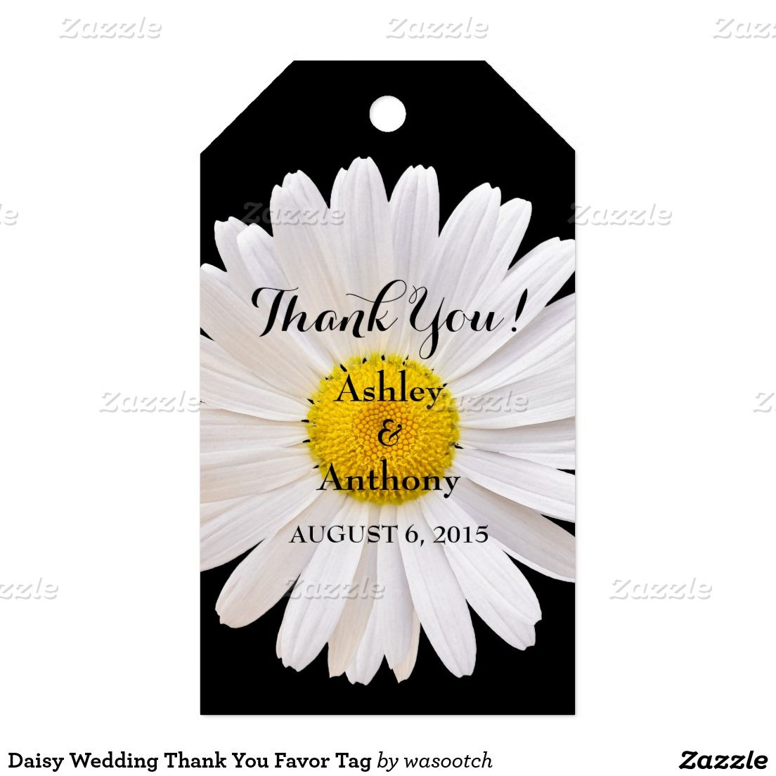 Daisy Wedding Thank You Favor Tag   Favours and Wedding