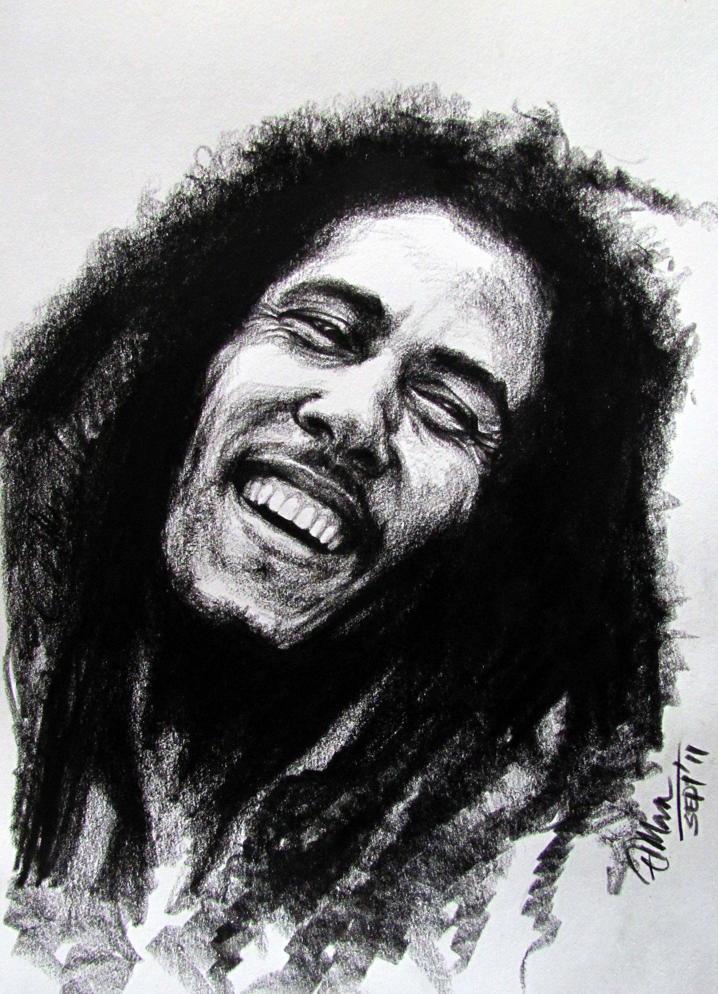 Drawings of people crying bob marley pencil jammers mias