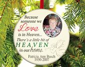 In loving Memory Christmas Ornament. $10.00, via Etsy.