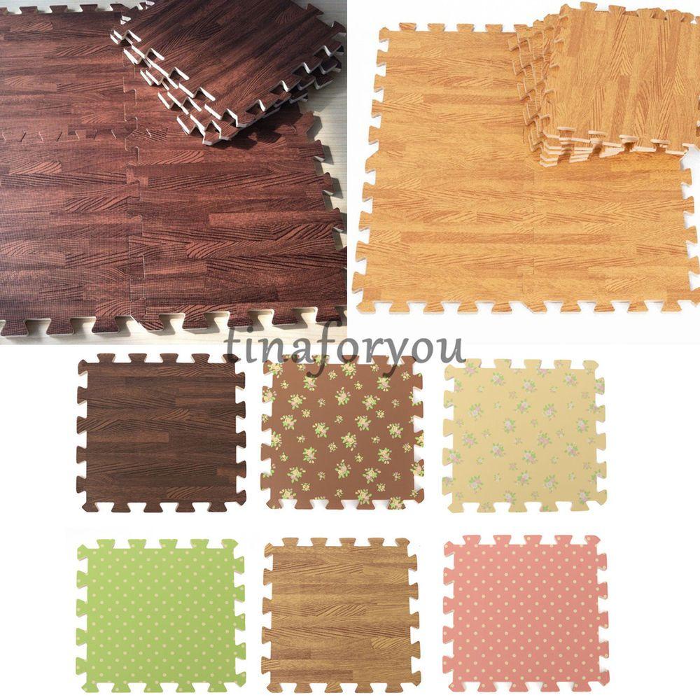 Details About 9pcs Wood Interlock Eva Foam Floor Puzzle Pad Work