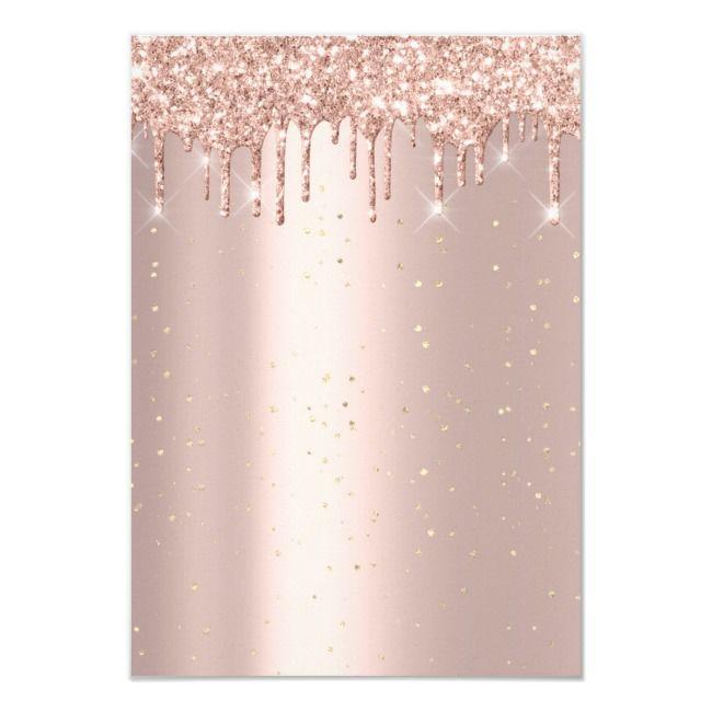 Best Glitter Drips Rose Confetti Bridal Sweet 16Th Invitation 400 x 300
