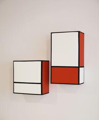 Applique Radieuse Small / Non électrifiée - H 25 cm Ecru & orange / Ganses noires - Maison Sarah Lavoine