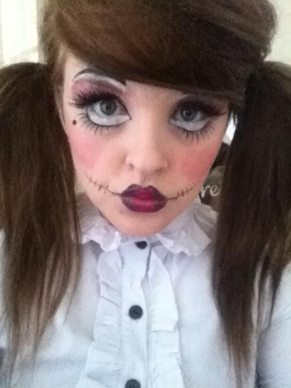 Creepy doll makeup halloween costume