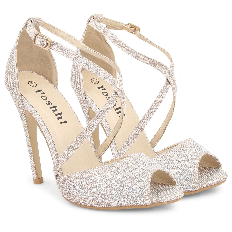 Womens La s Evening Party Wedding Bridal Sandals High Heel