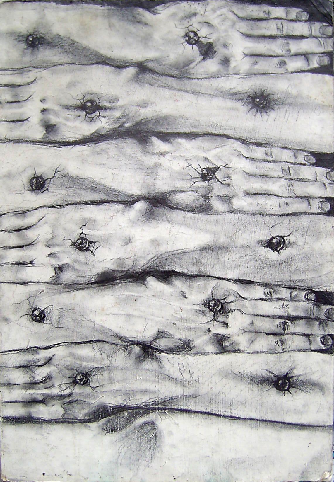 BAJO ESTOS LEÑOS ANIDA LA MEMORIA. Grafito sobre cartón, 1994