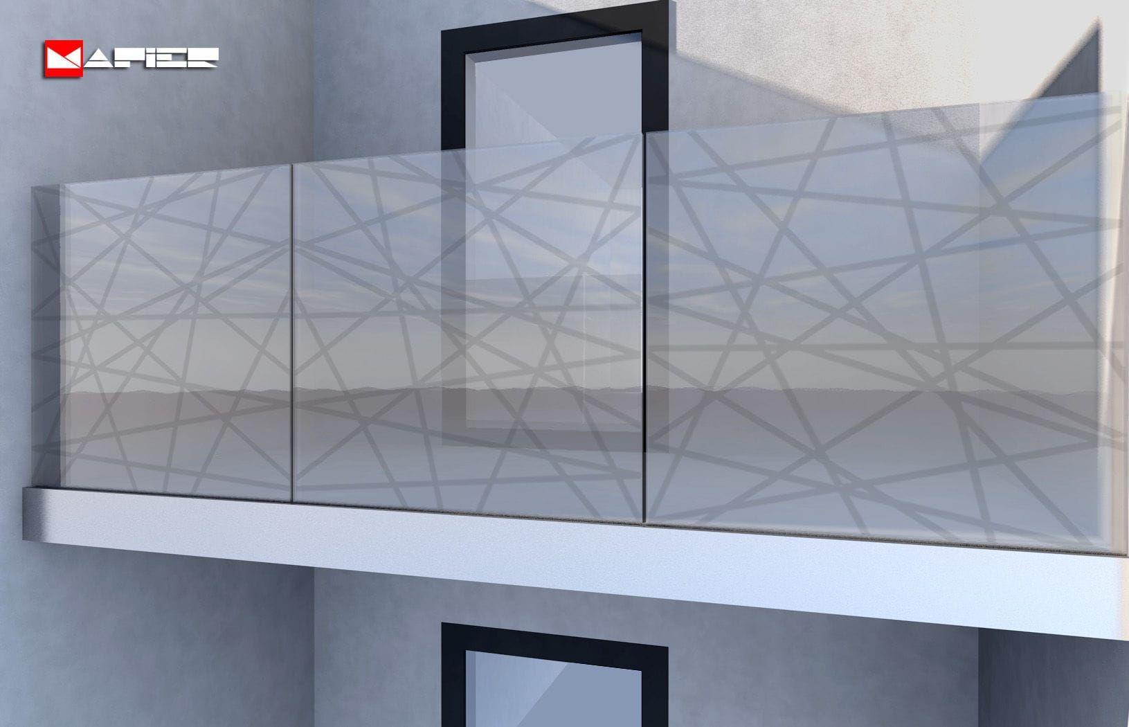 garde-corps en aluminium / à barreaux / d'extérieur / pour terrasse