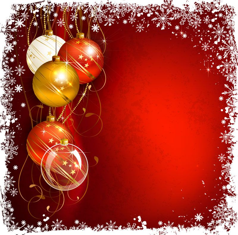 Christmas Card Background Vector 11