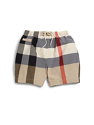e476e35f17b84 Burberry Infant's Check Swim Trunks - Classic Check - Size 6 Months ...