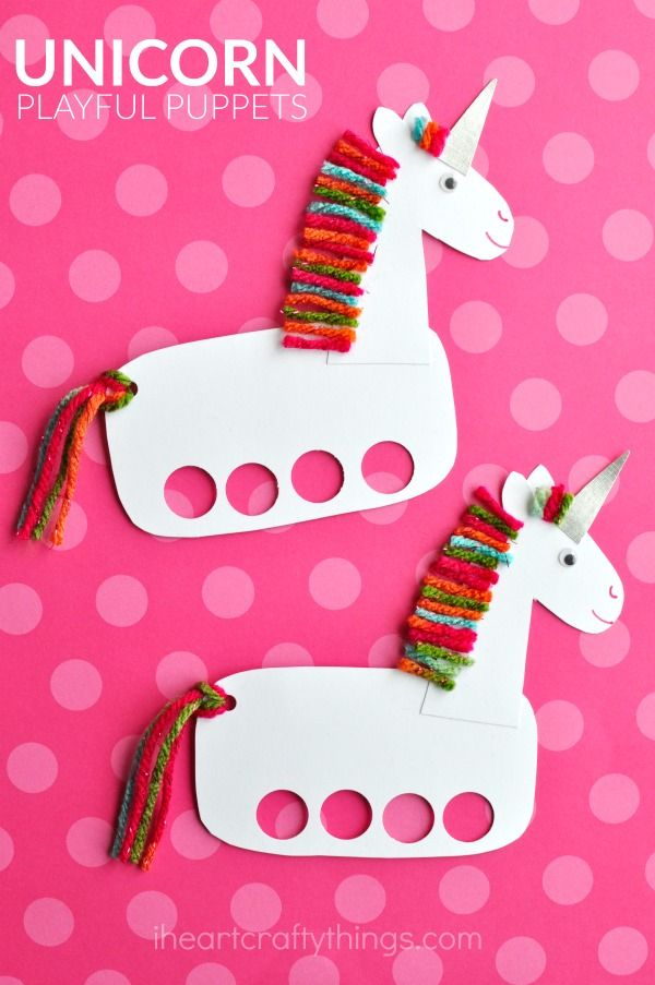 Incredibly Cute And Playful Unicorn Puppets I Heart Crafty Things