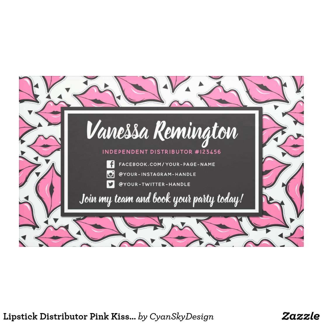 Lipstick Distributor Pink Kiss Party Trade Show Banner