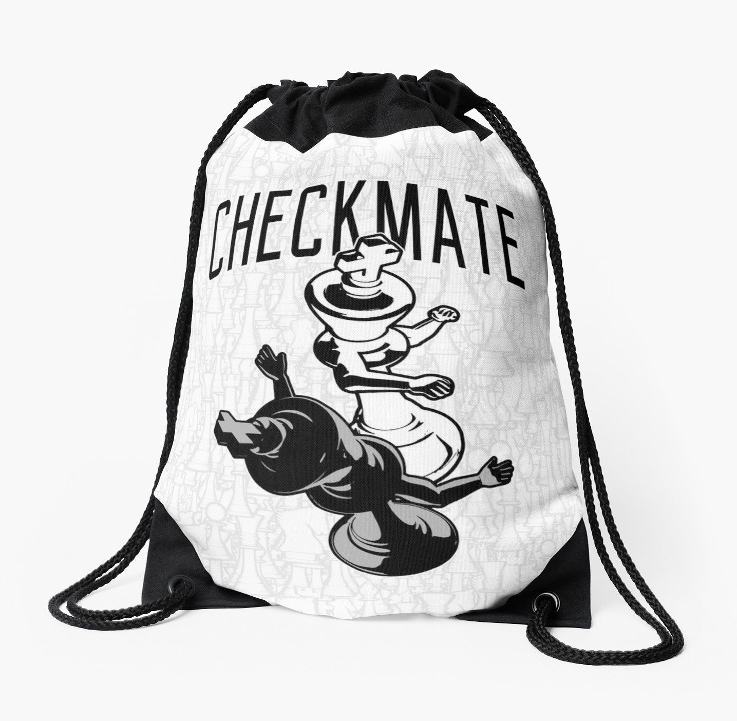 0f45a2083 Buy 'Checkmate Punch Funny Boxing Chess' by GrandeDuc as a T-Shirt,  drawstring bag chess, king, checkmate, knockout, boxing, fighter, fight,  punch, boxer, ...