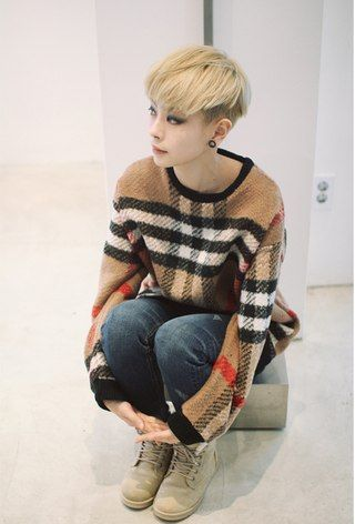 Han Hyeyeon Asian Tomboys Androgynous Hair Tomboy Hairstyles