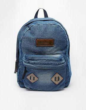 Superdry Montana Washed Denim Backpack