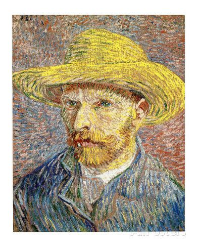 Vincent Van Gogh Self Portrait with Felt Hat Vintage Print