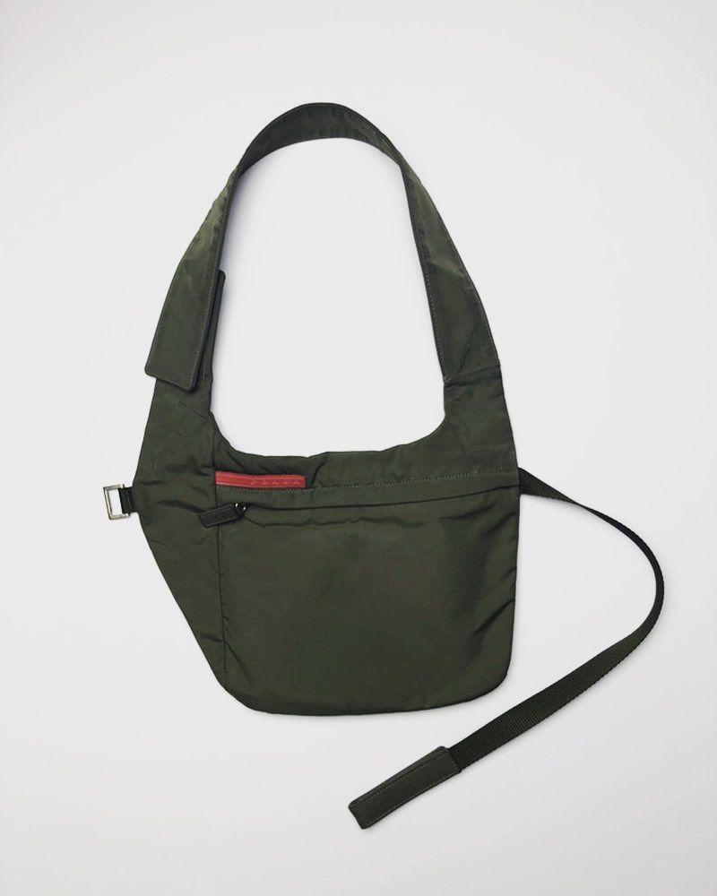 54e6074c26ad Prada Spring 1999 Side Bag in Olive | PRADA in 2019 | Side bags ...
