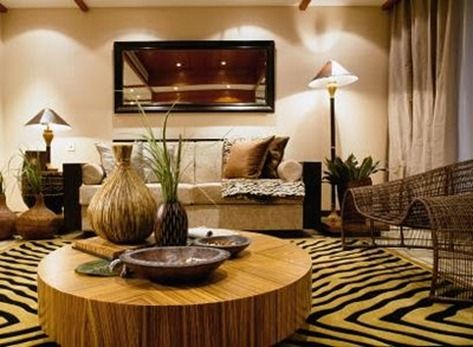Lovely Ethnic Style Living Room | Ethnic Decor Inspired By The African Colonial  Style.
