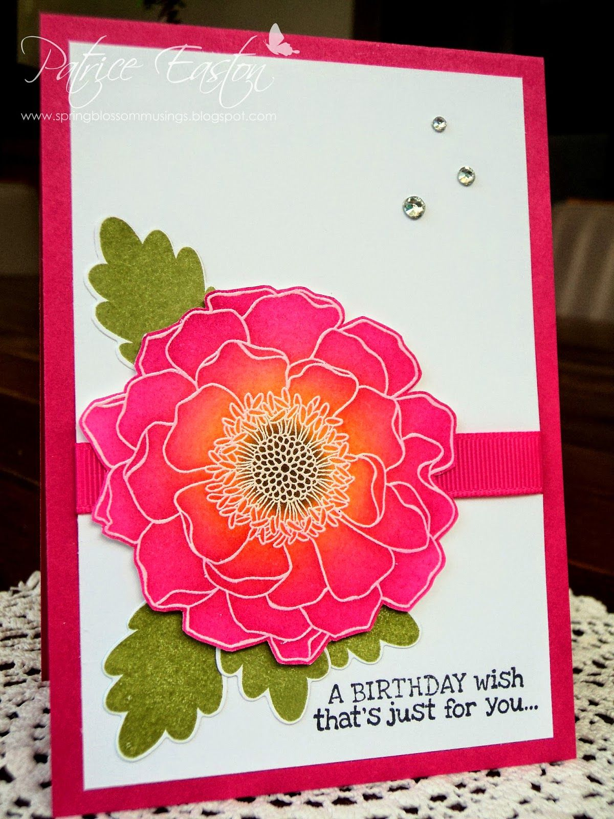 Blended Bloom Birthday - sponged