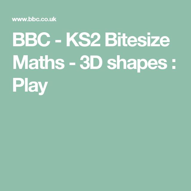 BBC - KS2 Bitesize Maths - 3D shapes : Play | Geometry: Properties ...