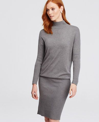 Image of Mock Neck Sweater Dress   Style - Work Outfits   Pinterest a6be76c08e