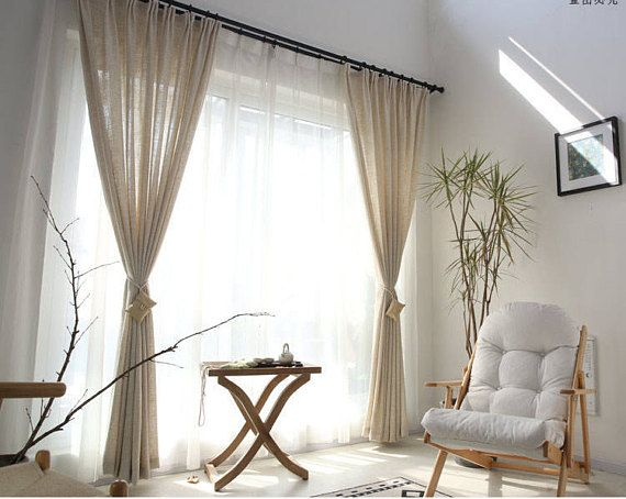 Belgian Linen Curtains Drapes Multiple Colors Custom
