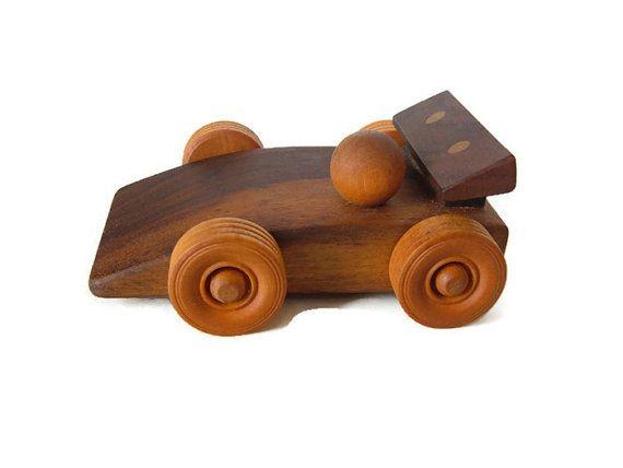 Walnut Race Car  WoodenToy Car  Hardwood Toy by ReichertWoodworks