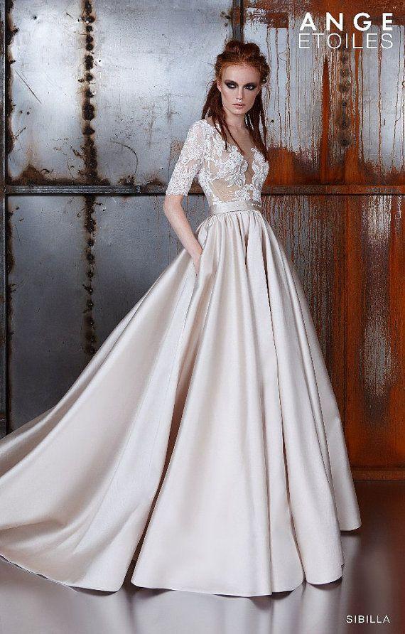 Hochzeitskleid SIBILLA, Brautkleider a-Linie, Brautkleider ball Gown ...