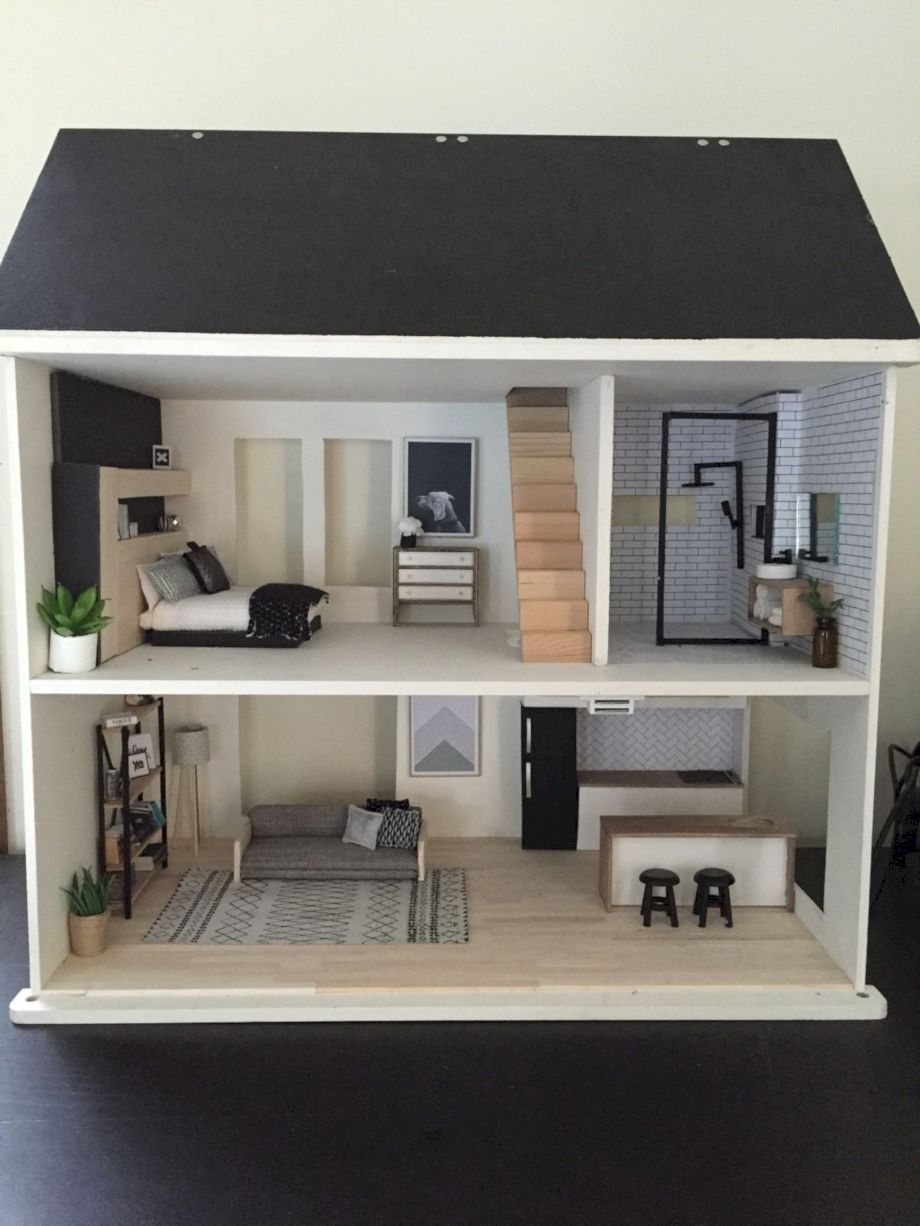 Merveilleux Cool 53 Cheap And Affordable DIY Barbie Doll Furniture Ideas Wooden Barbie  House, Barbie House