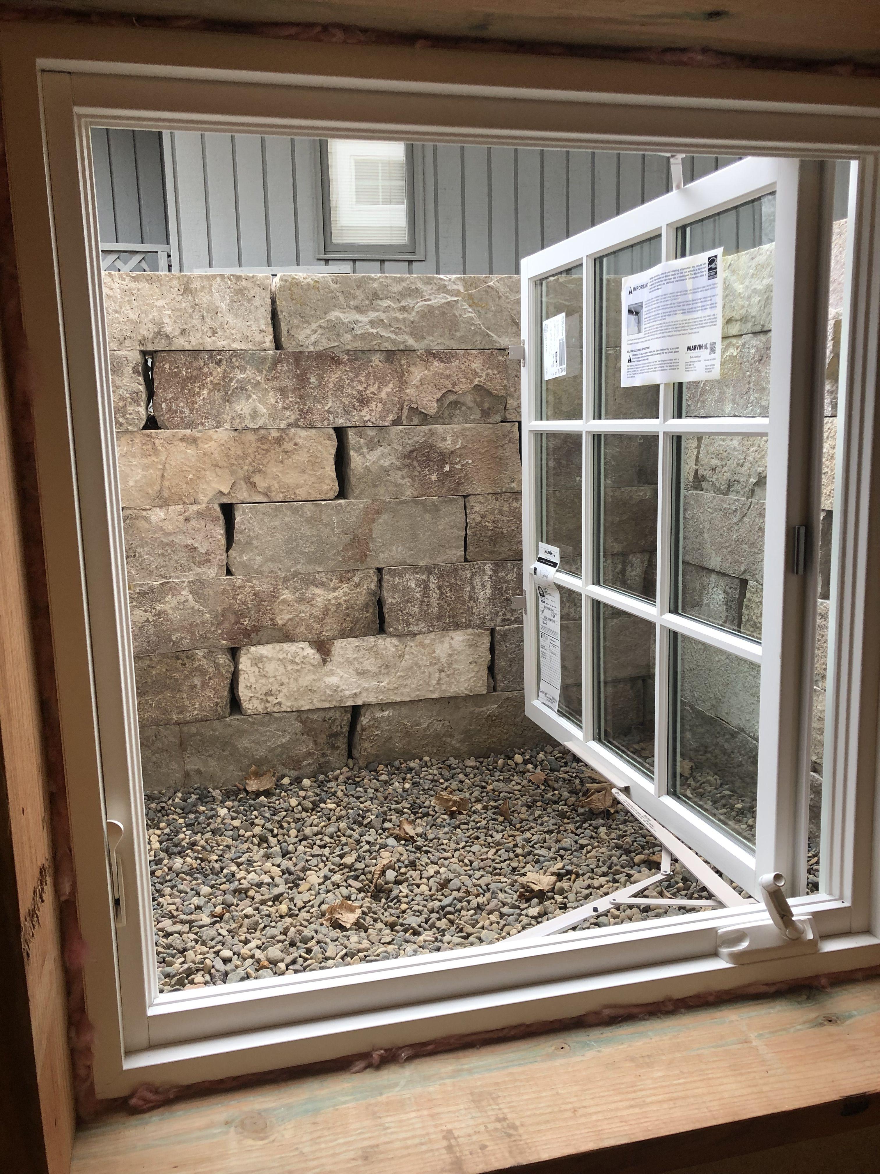 Natural Stone Egress Window Well Egress Window Well Egress Window Egress Window Landscaping