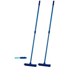 Don Aslett S Set Of 2 Multi Purpose Rubber Brooms With