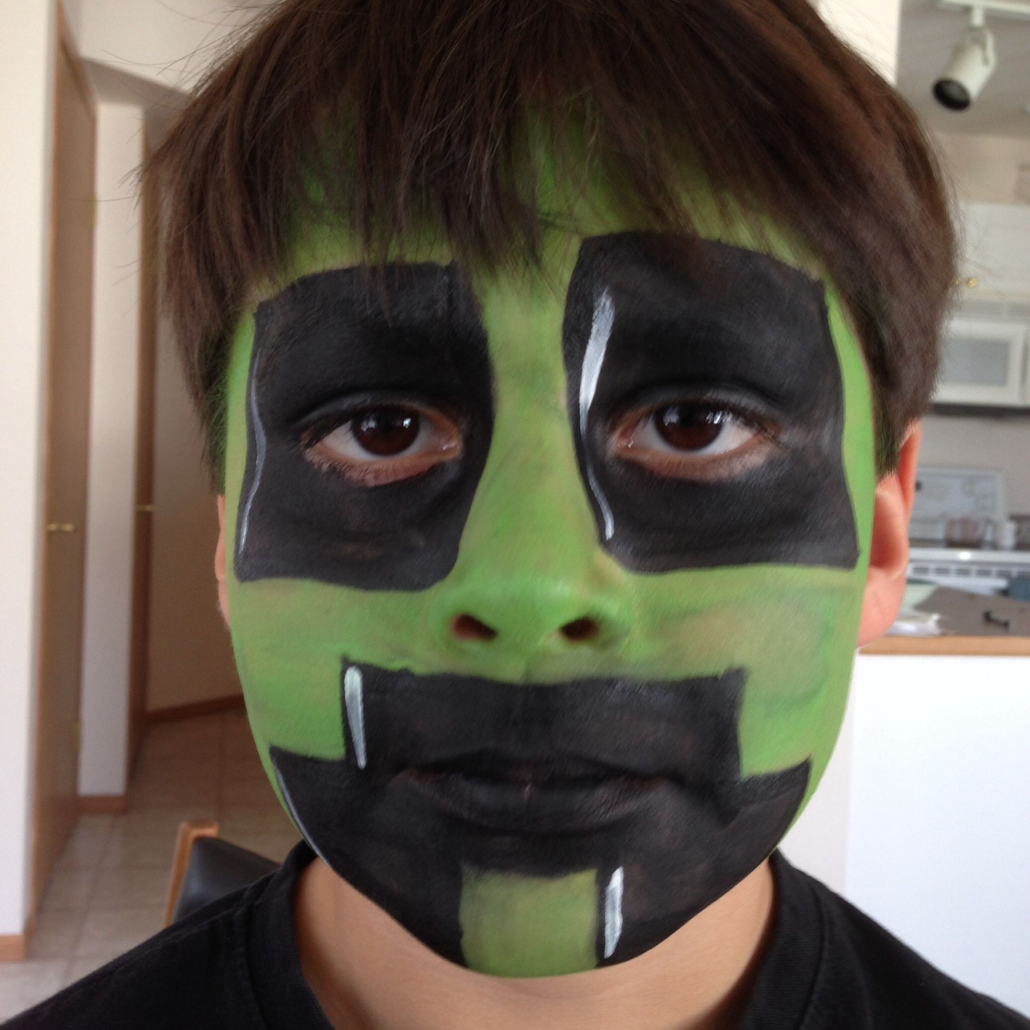 Creeper (Minecraft)  Face painting, Carnival face paint, Face paint