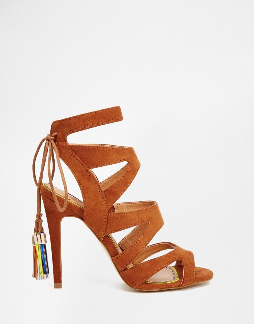 MISS KG Caiden Bow Heeled Sandals | Nudevotion.com