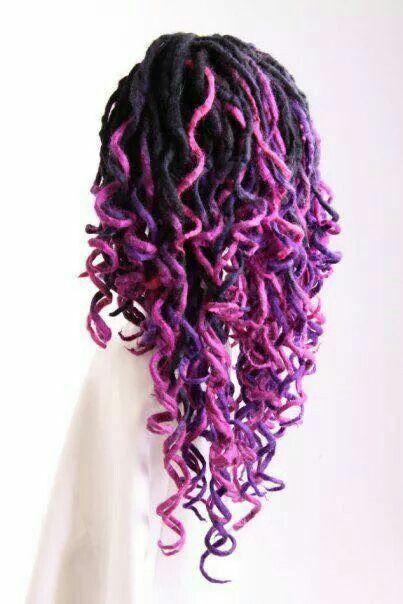 purple tips locs hair styles