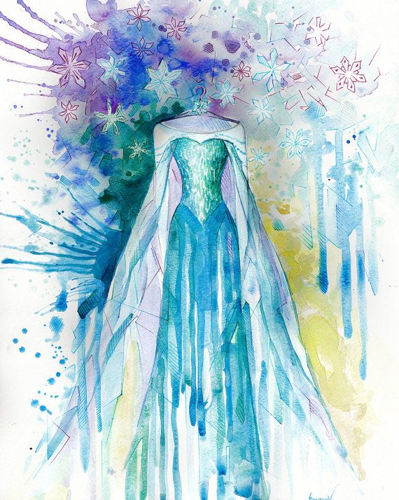Enfants art print disney art aquarelle peinture imprimer - Peinture princesse disney ...