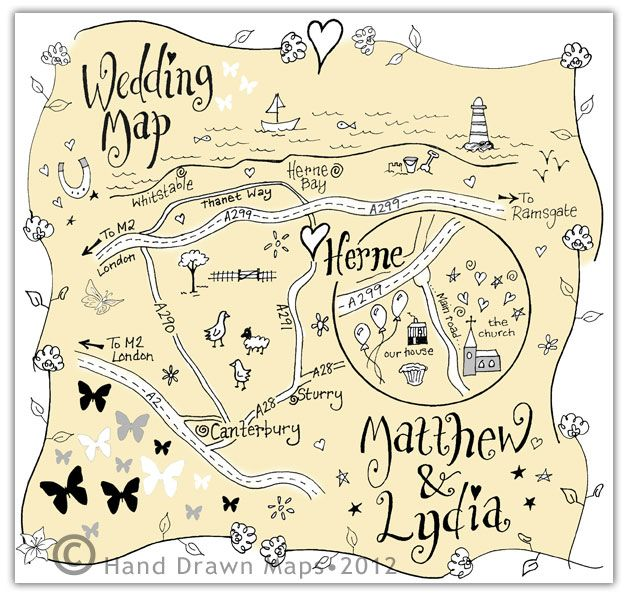 Bespoke Wedding And Event Maps