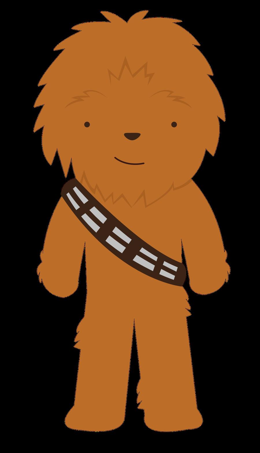 Baby Shower Chewy Star Wars Figuras Kawaii Dibujos