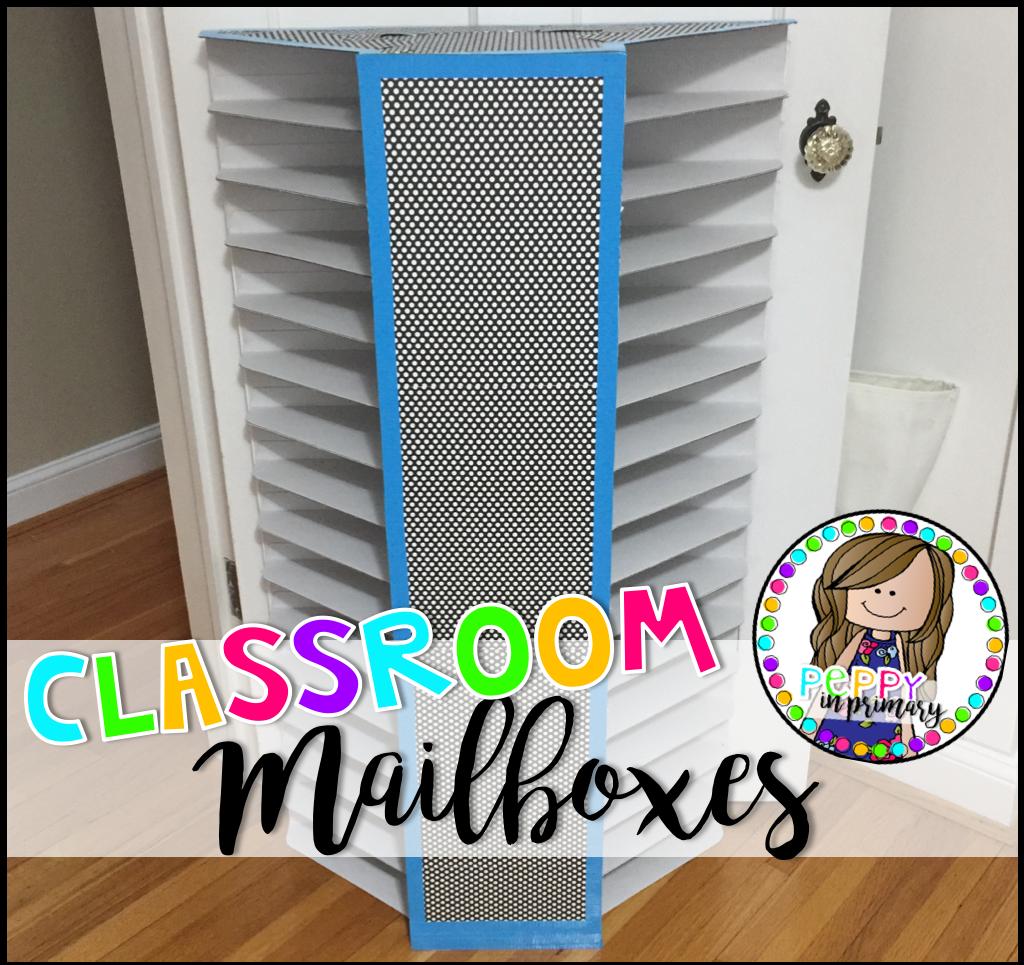 DIY – Classroom Mailboxes