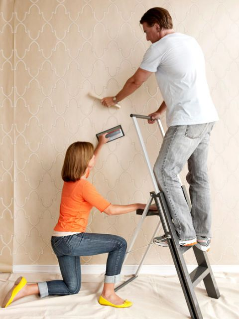 The Hassle Free Way To Hang Wallpaper How To Hang Wallpaper How To Install Wallpaper Diy Wallpaper