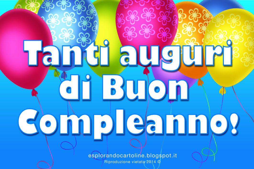 Tanti Auguri Di Buon Compleanno Con Tanti Palloncini Colorati