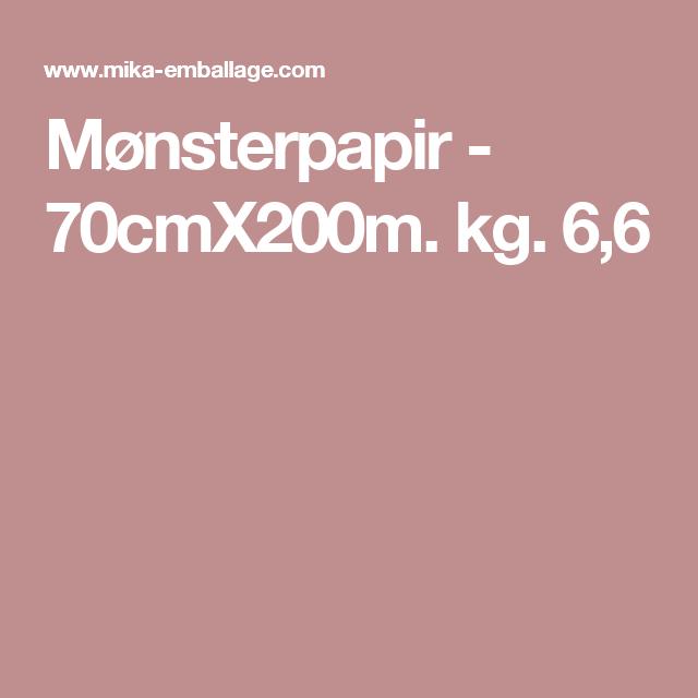 Mønsterpapir - 70cmX200m. kg. 6,6