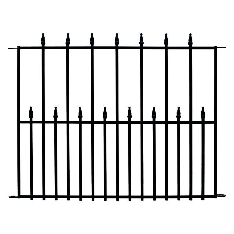 No Dig 29 x 38 Powder-Coated Steel Empire Fence Base Panel | Lowe\'s ...