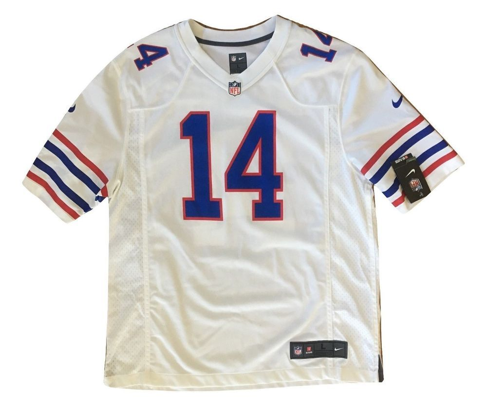 da5254831 Sammy Watkins Buffalo Bills White NFL On Field Nike Mens Jersey L Large  14  NWT   0.99 (0 Bids) End Date  Tuesday Nov-6-2018 15 47 13 PST…