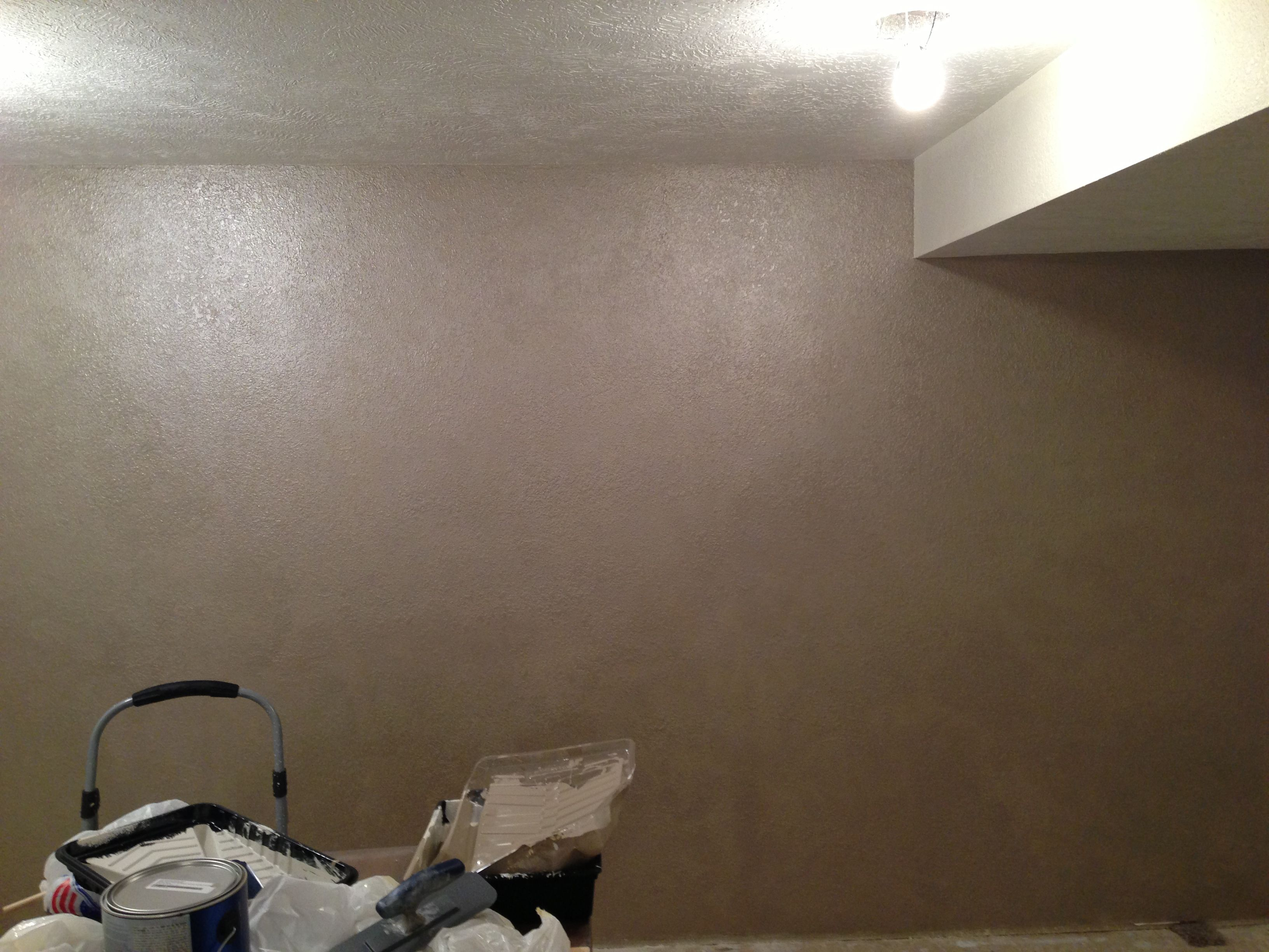 Valspar Brushed Pearl Sponged On Knock Down Texture Temple Room Paint