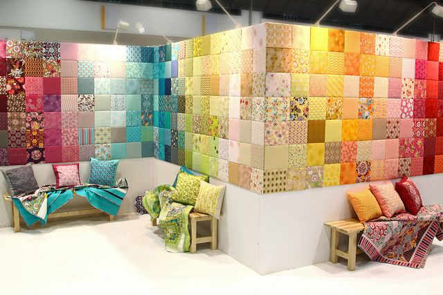 Art Gallery Fabrics Booth | Art gallery fabrics, Sewing rooms and ...