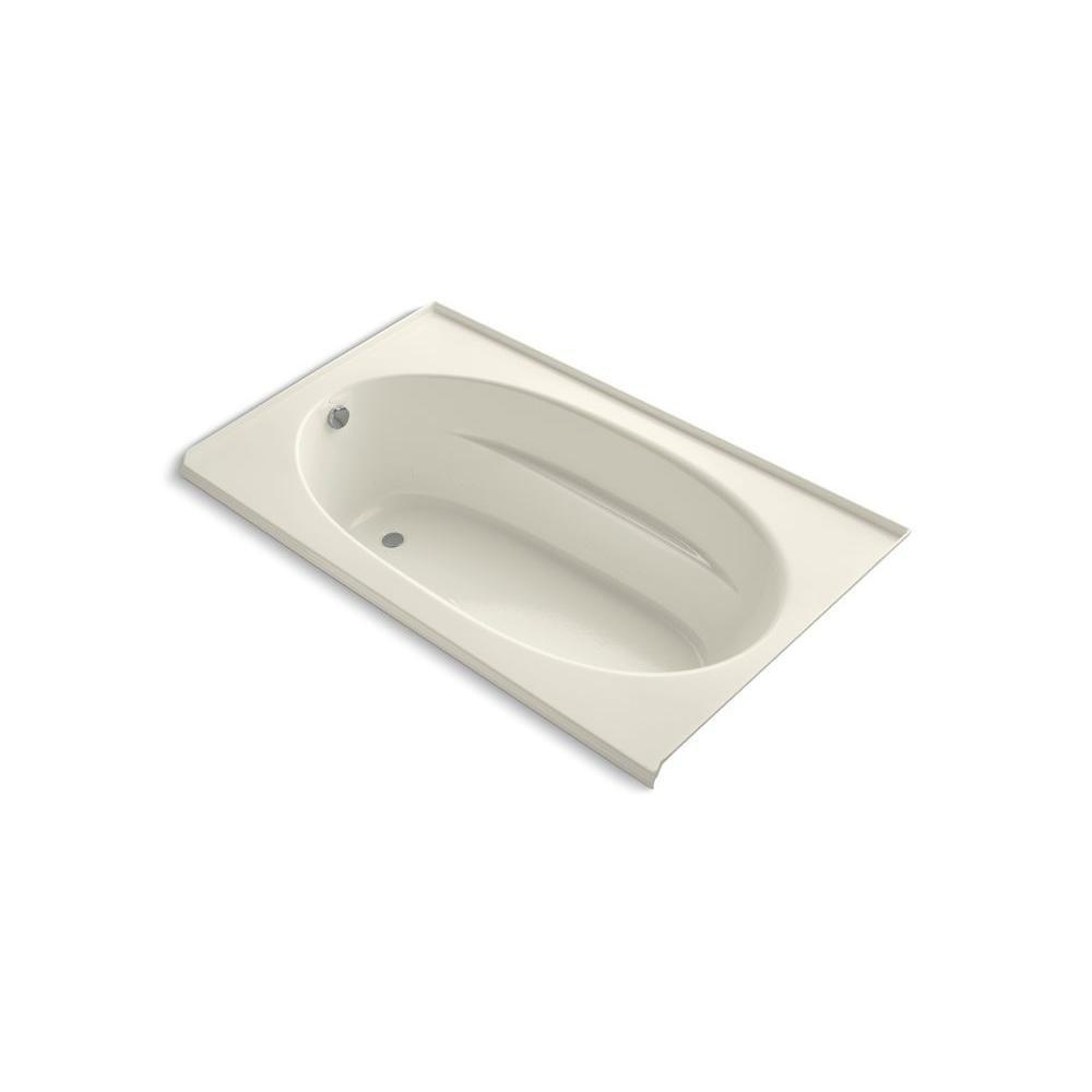 KOHLER Windward 6 ft. Acrylic Oval Drop-in Whirlpool Bathtub in ...