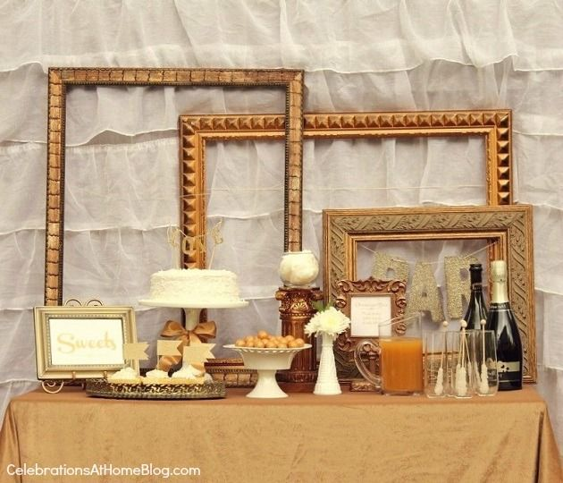 50th Wedding Anniversary Table Ideas: Gold Party Ideas For Anniversaries, Bridal Showers