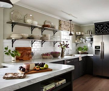 Give Your Kitchen An Open Look By Removing Cabinets And Replacing Them With Open  Shelves.