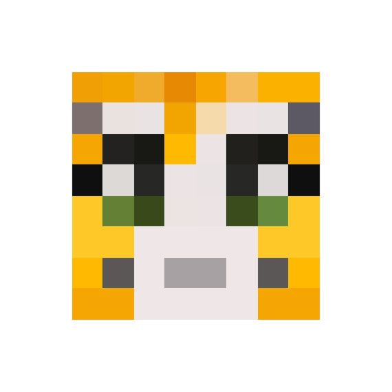stampylongnose face wall decal - available in a variety of sizes