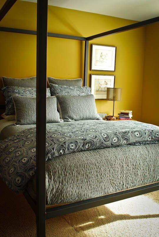 Chambre Couleur Moutarde : Chambre moutarde sur pinterest chambres rétro modernes