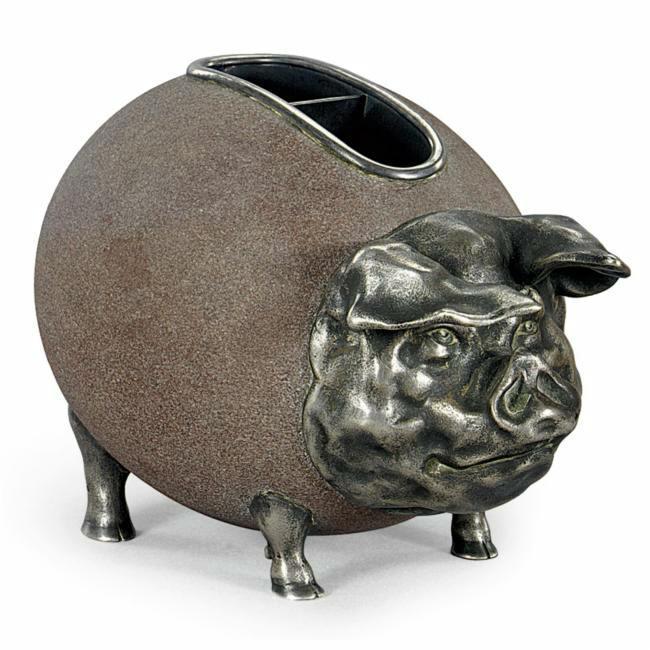 Faberge, Pig Bank, silver, 1913. Фирма Фаберже Свиня-копилка 1913 песчаник, серебро